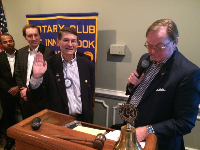 Phil is sworn-in as the President of the club